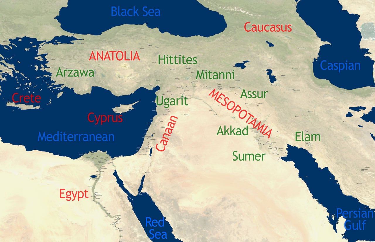 Anatolia Map History